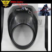 RiderJacky Black Motorcycle Large Lampshade Fairing For Harley 883