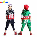 Autumn 2017 New Boys Sports Suits Cartoon Hooded Long-sleeved T-shirt+Pant 2pcs Set cotton kids Chothes Suit