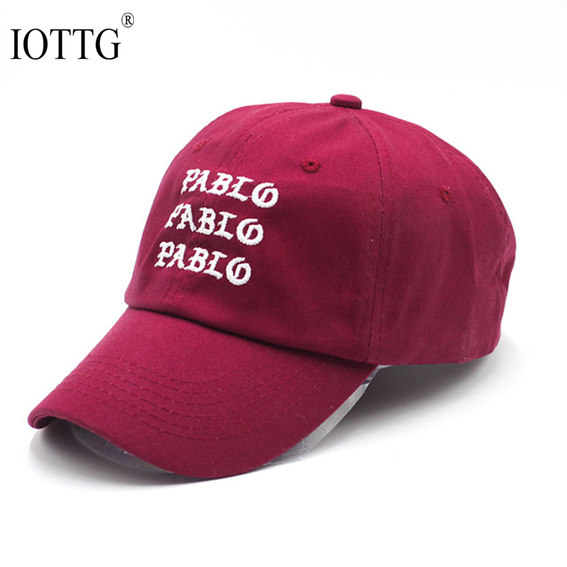 I Feel Like Pablo Red Hat Dad Baseball Cap Kanye West 350 Boost TLOP Snapback Caps bear dad hats for men Drake i feel like pablo cappello in bordeaux yeezus yeezy kanye west the life of pablo baseball caps