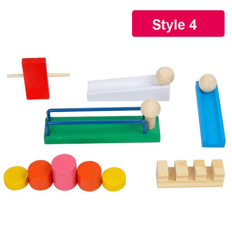 120 шт./компл. детей деревянное домино учреждения аксессуары головоломки игрушки домино интерактивная игра Органы блокирует обучение детские игрушки - Цвет: Style 4
