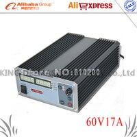 CPS 6017 Профессиональные лабораторные Питание 1000 Вт 60 В 17A высокое Мощность цифровой регулировкой Питание 220 В телефон Ремкомплект