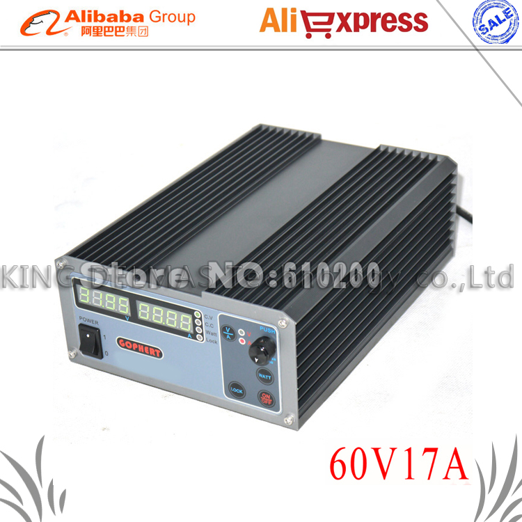 где купить CPS-6017 Updated Version 1000W 0-60V/0-17A,High power Digital Adjustable DC Power Supply CPS6017 220V дешево