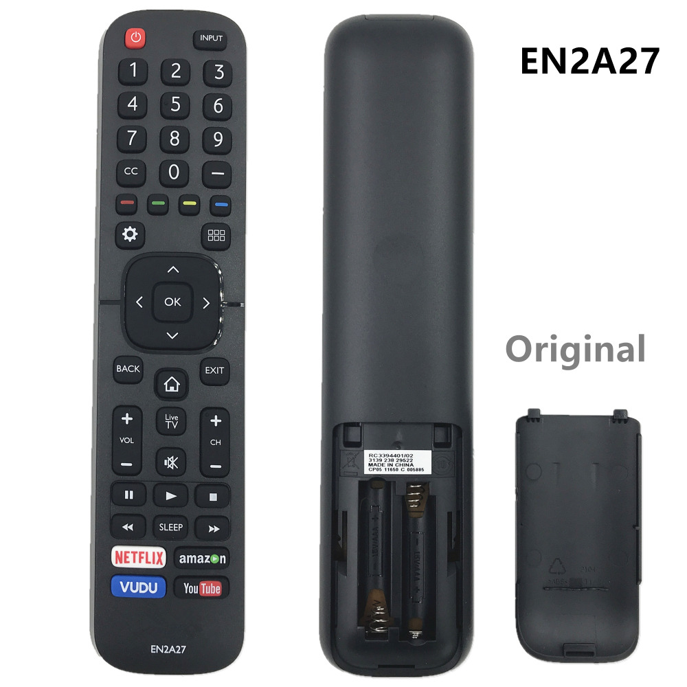 Original Remote Control EN2A27 For Hisense Smart TV 43H5C, 43H7C, 43H7C2, 50H5C, 50H6B, 50H7GB, 50H7GB1, 50H7GB2, 50H8C, 55H5C