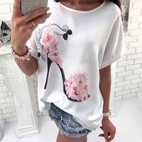 T-shirt manches courtes fleurs