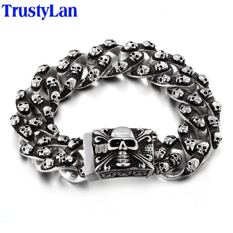 TrustyLan Aliexpress Men Bracelet Stainl