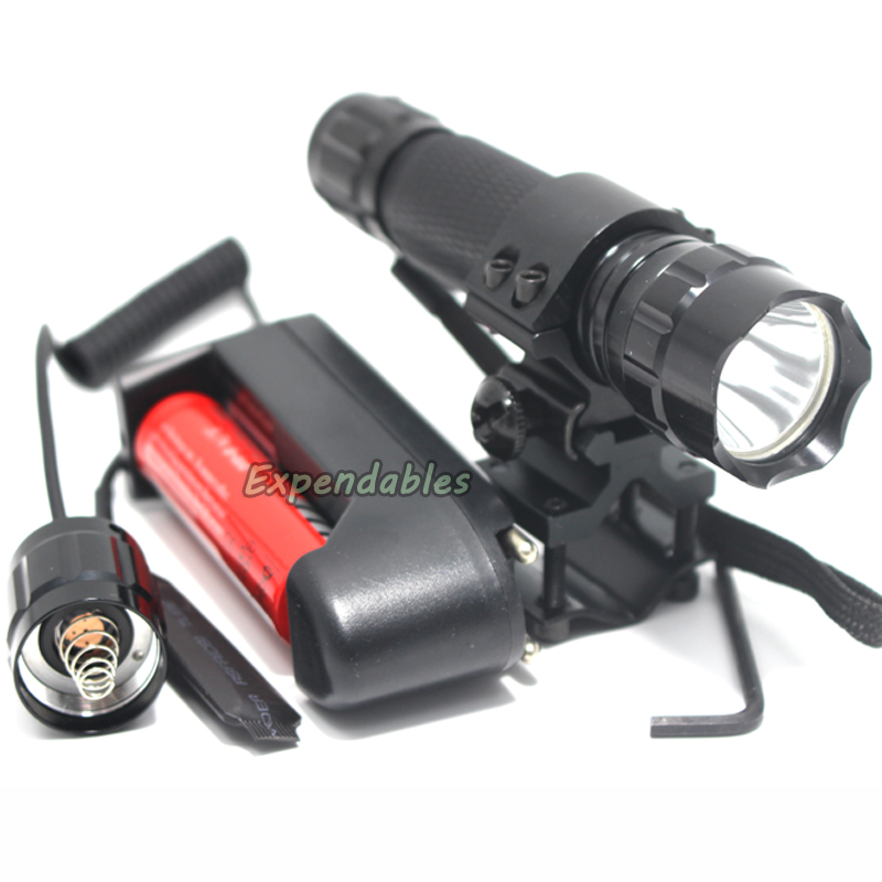 font b Tactical b font Flashlight 2000 lumens CREE XM L T6 LED 501B Hunting