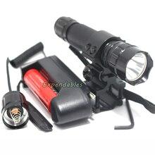 Linterna táctica 2000 lúmenes DEL CREE XM-L T6 LED 501B Antorcha Caza Spotlight + Tactical mount + interruptor Remoto + Batería + cargador