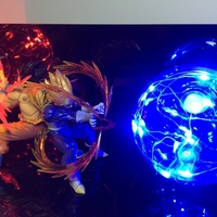 Anime Dragon Ball Z Action Figure Toys Son Goku Super Saiyan Vegeta LED Flash Ball fancy Night light DIY Display Toy Cool Gift