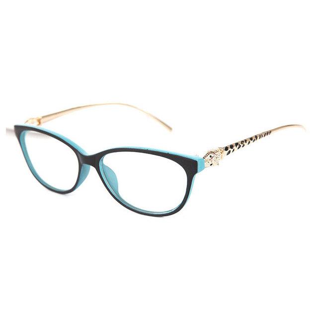 Chá cor templo aro cheio de leopardo elegante óculos de alta qualidade óculos frames oculos de grau frame ótico grife
