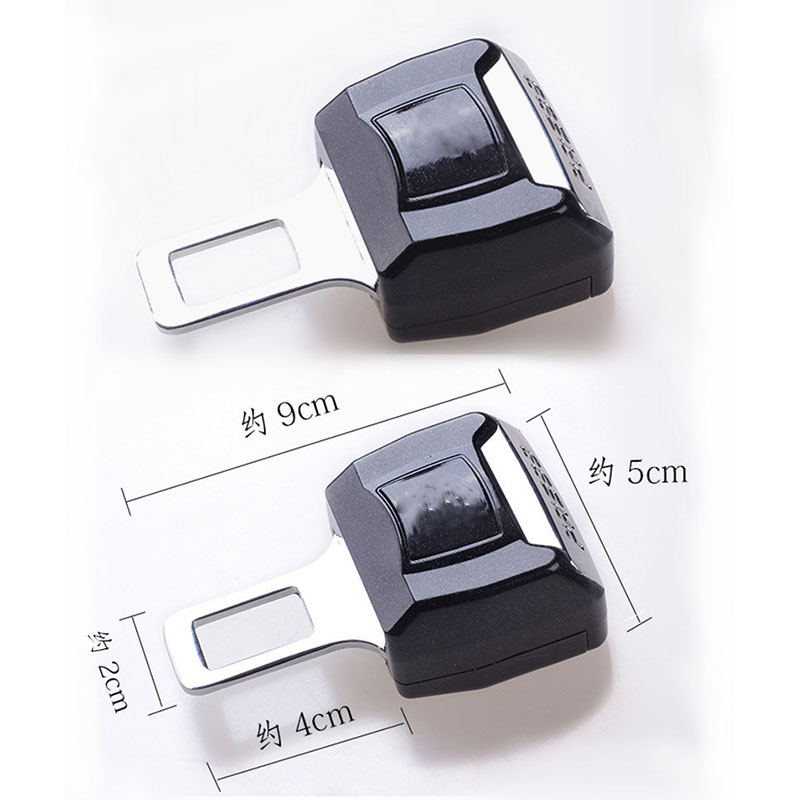 2PC Car safety belt clip Brand Car Seat belt buckle For Audi VW BMW Ford Mazda Toyota Peugeot Benz honda Mitsubishi Chevrolet
