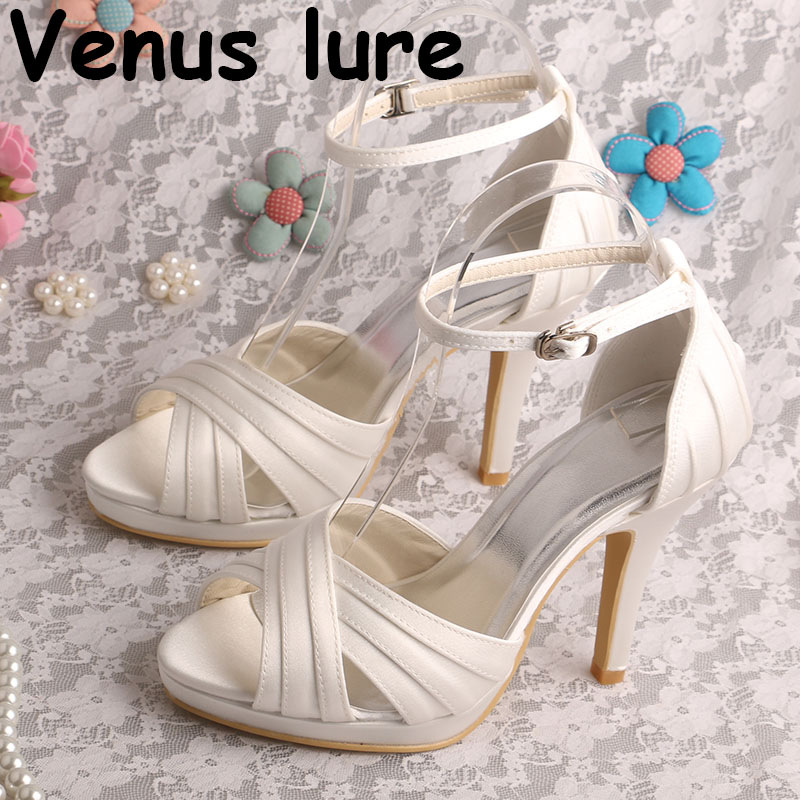 (22 Colors) Ankle Strap Ladies Dress Shoes for a Wedding Off white Satin Sandals(22 Colors) Ankle Strap Ladies Dress Shoes for a Wedding Off white Satin Sandals