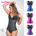 New Latex Waist Cincher Vest Chest Binder Body Shaper For Women Corset Slimming Waist Trainer Plus Size Waist Corsets