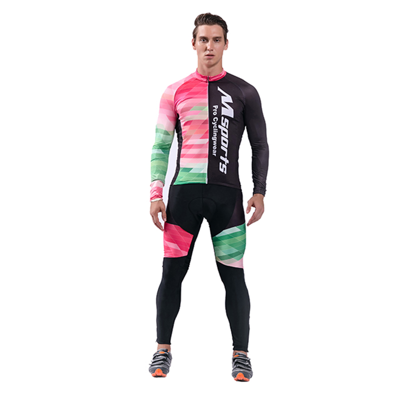 2017 Men's Long Sleeves Cycling Jersey Set Men Winter Cycling Clothing Bike Team Ropa Ciclismo Veloforma Clothing Sports Suit