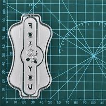 Eastshape Label Dies Flower Metal Cutting for Card Making Scrapbooking Embossing Cuts Stencil Craft You Letter Die