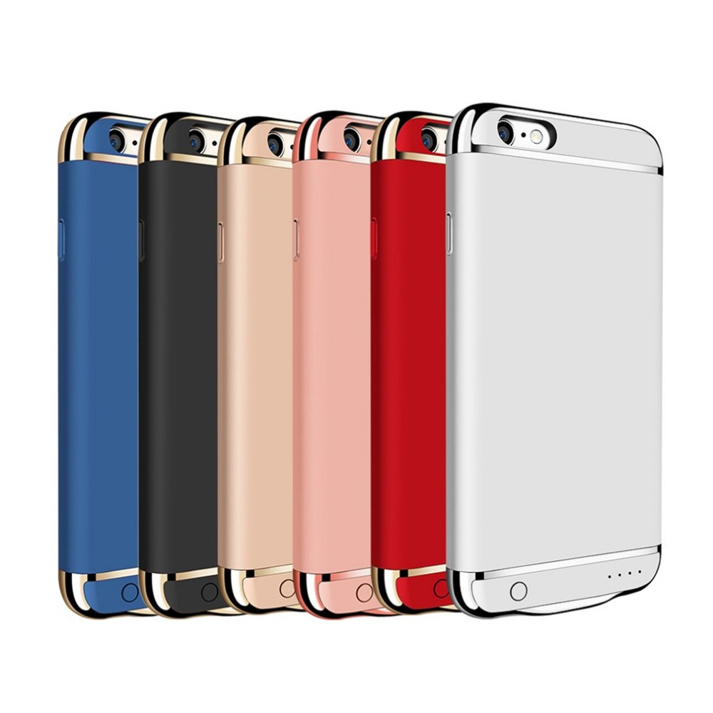 Portable Traveling backup power bank case External Battery Charger Back Clip Case Cover power supply For iPhone 7 6 6S Plus