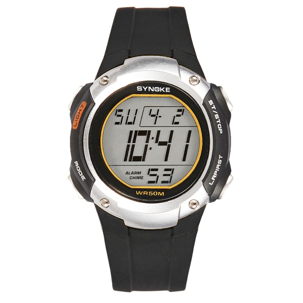 лучшая цена SYNOKE Sport Men Digital Wristwatches Timer Watches for Boys Clock Alarm Chrono 50M Waterproof Male Watch