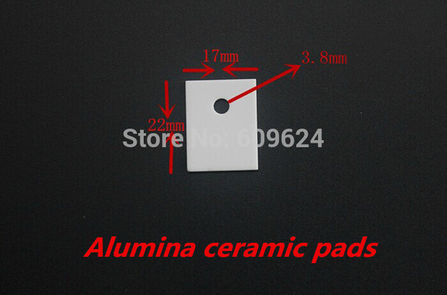 (20pcs/lot) 17x22x1mm Alumina ceramic pads  thermally conductive insulation sheet high temperature resistant  HeatSink