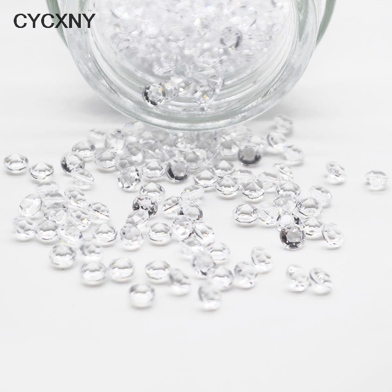 1000pcs Mini Clear Diamond Confetti Table Decoration Acrylic Centerpiece Confetti Wedding Crafts Table Scatter Gems Party Supply
