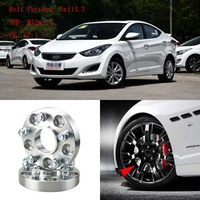 "1"" Wheel Spacers Adapters 5 Lug 5x4.5""/5x114.3 12x1.5 Studs For Hyundai Elantra 2008+| | |  -"