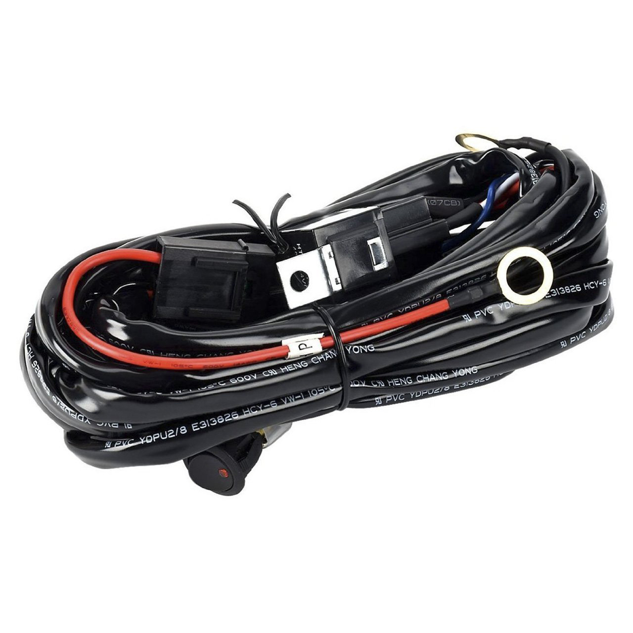 EDFY 12V 40A Off Road LED LIGHT Bar On Off Power Switch Relay Wiring Harness