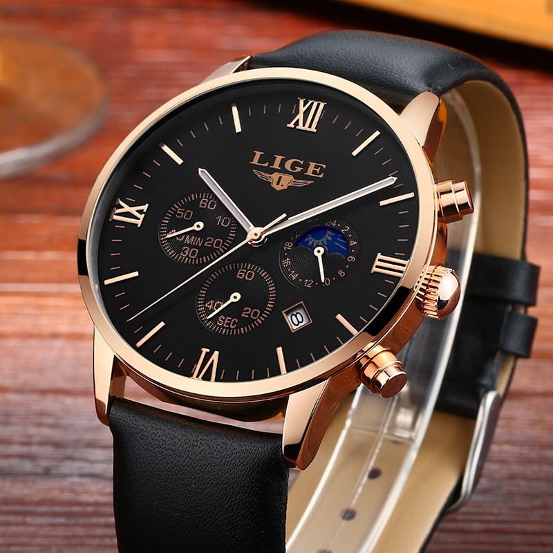 Fashion Men Watches LIGE Top Brand Luxury Mens Military Sports Chronograph Clock Wristwatch Man Quartz Watch Relogios Masculino new listing men watch luxury brand watches quartz clock fashion leather belts watch cheap sports wristwatch relogio male gift
