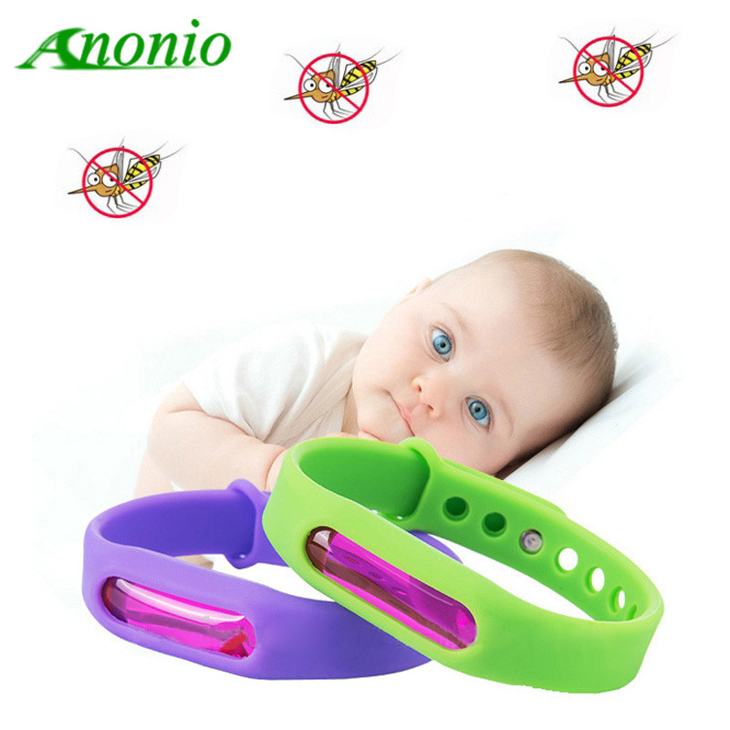 Mosquito Repellent Bracelets Protection 100% Natural Waterproof Silicone Deet-Free Plant-Based Oil Band Mosquito Repellent 0D