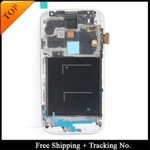 100% getestet Super AMOLED Für Samsung S4 I9505 LCD Display für Samsung S4 i9500 Lcd bildschirm Touch Digitizer Montage mit rahmen