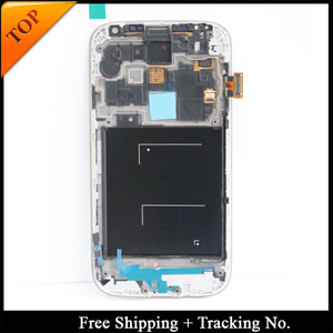 Image 1 - 100% tested Super AMOLED For Samsung S4 I9505 LCD Display For Samsung S4 i9500 LCD Screen Touch Digitizer Assembly with frame