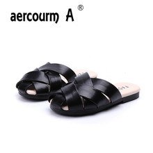 Aercourm A/ г. летние детские тапочки детские сандалии на плоской подошве модная летняя однотонная обувь для девочек черные, розовые, красные слипоны