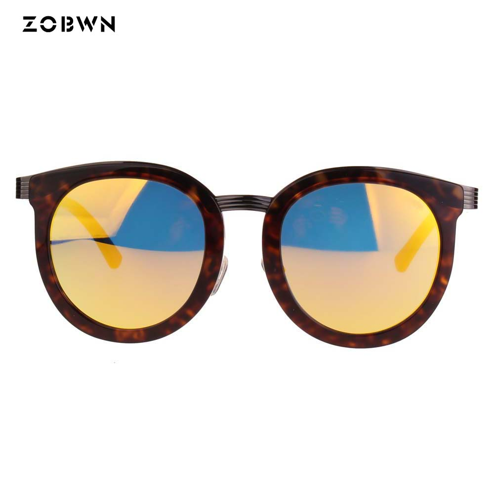 Gold Mix Uv400 Großhandel Weiblich Brillen Schutz Anti Blau Rahmen Film Frau Runde Sonnenbrille Frauen reflexion vIIURqr
