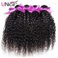UNice Волосы 7А Бразильский Вьющиеся Девственные Волосы 4 ШТ. Дешевые Бразильский Weave Волос Девственницы Связки Али Бразильский Странный Вьющиеся Дева волос