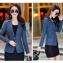 New Spring Autumn Plus Size 4XL One Button Office Female Blazers