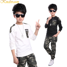 Kindstraum 2017 New Hot Autumn Kid Clothing Sets Active Camouflage 2pcs Pullover Pants Children Cotton Sportwears