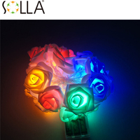 Solar String Lamps 20 LED Flower Blossom Decorative Lights Waterproof White Fairy Garden Outdoor Indoor Wedding