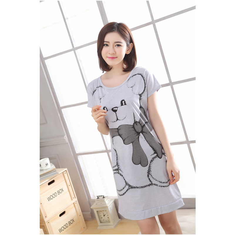 Womens Sets 2018 Summer Round Neck Cartoon Kawaii Totoro Cartoon Sleepwear Nighty Female Casual Autumn Winter Nightdress