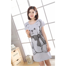 Womens Sets 2018 Summer Round Neck Cartoon Kawaii Totoro Cartoon Sleepwear Nighty