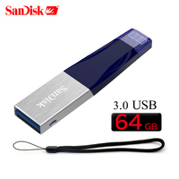 Sandisk SDIX40 USB flash drive 32gb iXPand pendrive 3.0 usb 64gb 128gb OTG Lightning Connector Pen Drive U Disk For iPhone iPad