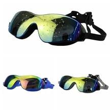 Водонепроницаемые Очки для плавания с защитой от ультрафиолета, Очки для плавания, цветные Очки для плавания, большие Очки, унисекс, Очки для плавания