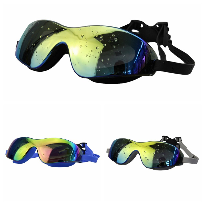 Waterproof UV Protection Googles Swim Eye Wear Anti-fog Очки для плавания Swimwear Colorful Swim Big Glasses Unisex Swimming