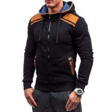 Brand Men's Casual Hooded Sweatshirts Hoodies Deerskin Patch Jumper Outwear Thick Sportswear Patchwork Home Clothes Winter Warm