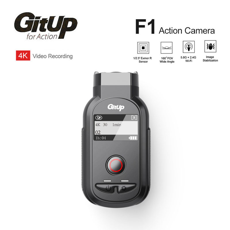 Nuevo GitUp F1 WiFi 4 K 3840x2160 P de acción del deporte cámara de vídeo Dash Cam Ultra HD lapso de tiempo al aire libre videocámara grabadora de bucle