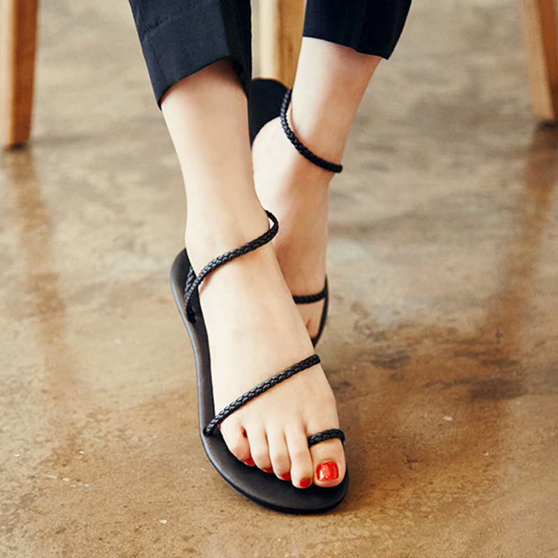 DreamShining Women Shoes Sandals Comfort Sandals Summer Flip Flops Fashion High Quality Flat Sandals Gladiator Sandalias Mujer high quality fashion women sandals flat shoes summer pee toe sandals indoor&outdoor leisure shoes dropshipping ma31