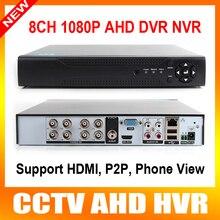 AHD-H Híbrido 8CH HD de 2.0MP 1080 P En Tiempo Real DVR HDMI de Salida $ NUMBER CANALES Híbrido DVR NVR PARA la Cámara IP Onvif P2P Para 8Ch 1080 P O 16Ch 960 P