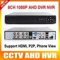 AHD-H Híbrido 8CH HD de 2.0MP 1080 P Saída HDMI DVR Em Tempo Real 4CH Híbrido DVR NVR PARA Câmera IP P2P Onvif Para 8Ch 1080 P 16Ch Ou 960 P