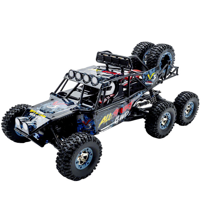 1/12 Scale 2.4G 6WD RC Car RTR 550 Brushed Motor 40km/H Rock Crawler Toy With LED Light Remote Control Flexible Steering Car Toy