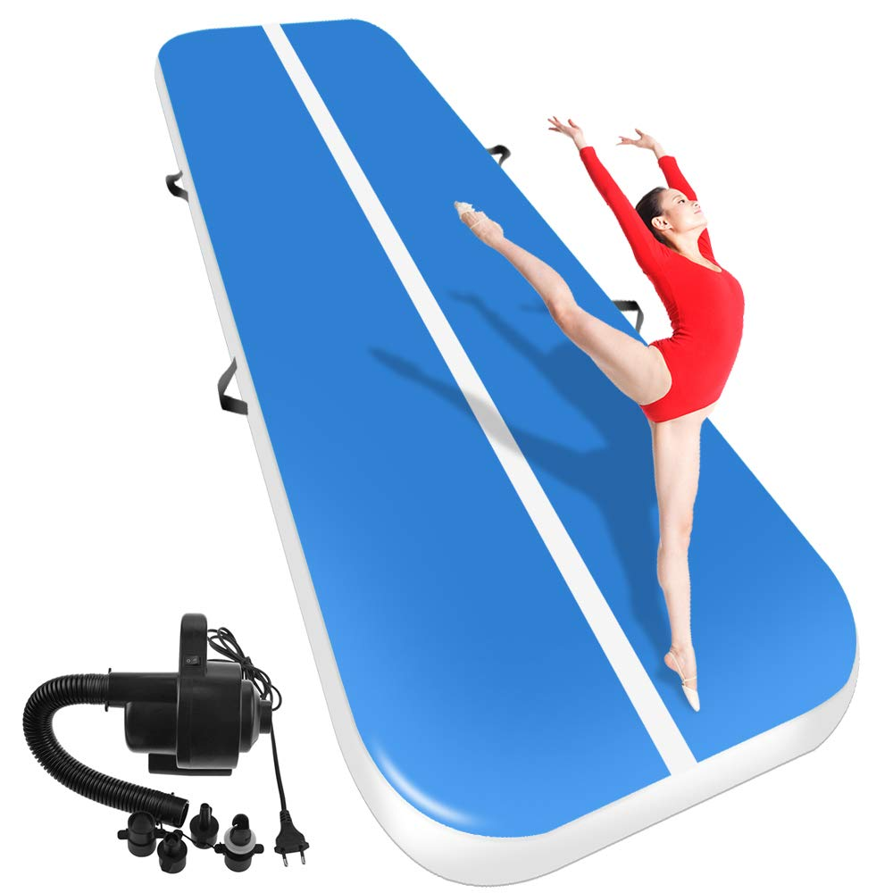 7M8M10M 2M 0 2M Inflatable Gymnastics AirTrack Tumbling Air Track Floor Trampoline for Home Use