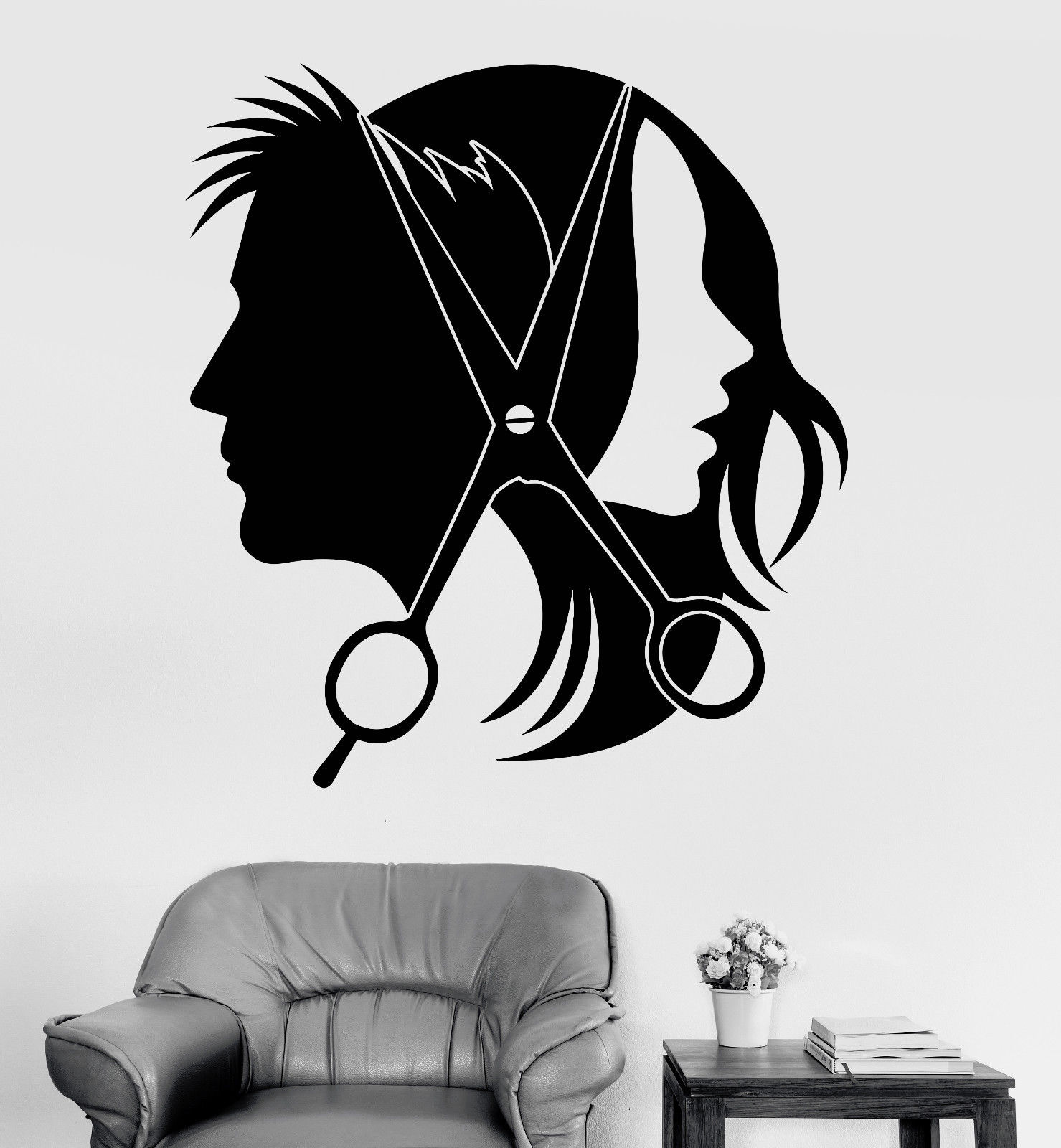 Popular unisex hair salon buy cheap unisex hair salon lots for Stickers salon design