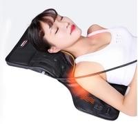 Shoulder back neck massage pillow cervical massager heating household kneading shoulder waist vibrating body massager