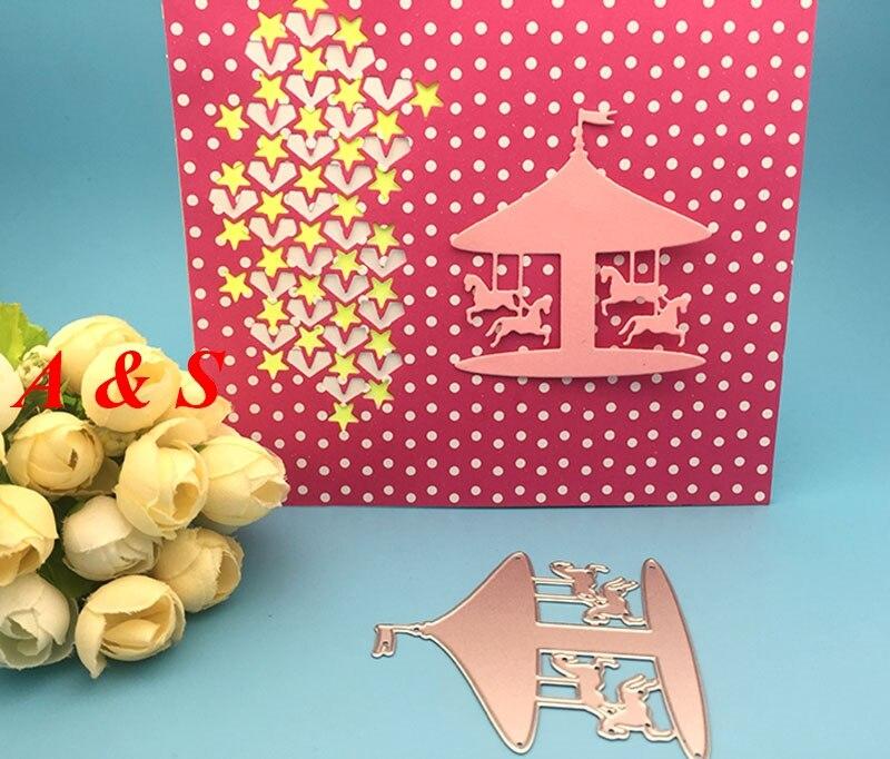 S48 METAL CUTTING DIES Wooden Horse Hobbyhorse gift Scrapbook card album wedding paper craft home decor embossing stencil punch