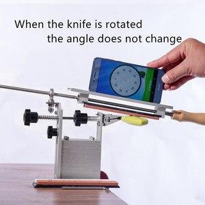 Image 4 - פרו סכין מחדד מקצועי with3 אבן משחזת הכי חדש נייד 360 תואר סיבוב קבוע זווית איפקס קצה KME מערכת